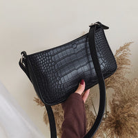 Retro Alligator Pattern Women Messenger Handbag Casual Solid Shoulder Bags for women PU Leather Ladies crossbody bag Bolsas bags - Creative Dreamscape