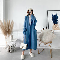 LANMREM 2020 Alpaca Knit Cardigan Jacket Women Autumn And Winter New Wild Mid-length Sweater Loose And Thick PC285 - Creative Dreamscape