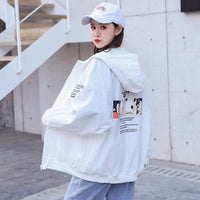 Spring Jacket Women Oversized Cartoon Lovers Loose Coat Harajuku Plus Size Basic Baseball Jackets Female Windbreaker Autumn New - Creative Dreamscape