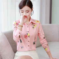 Oversized Long Sleeve Chiffon Blouse Women's Office Shirt Casual Tops Pink Blusas Mujer De Moda 2020 White Blouses 5XL - Creative Dreamscape
