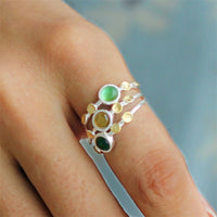 Sterling Silver Natural Tourmaline Handmade Designer Rings - Creative Dreamscape