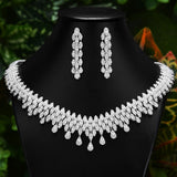 GODKI Famous Brand Necklace Earring Set Jewelry Set For Women Wedding Luxury Full Cubic Zircon Dubai Bridal Jewelry Set 2020 - Creative Dreamscape