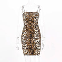 MissNight Leopard Sexy Mini Dress Party Club Outfits Bodycon Srtap Slash Neck Sleeveless Backless Women Summer 2020 Streetwear - Creative Dreamscape