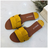 2019 New Brand Mixed Colors Women Slipper Pllus Size 35-41 Women Summer Beach Slides Flip Flops Outdoor Flat Slipper - Creative Dreamscape