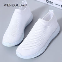2020 Women Sneakers Fashion Socks Shoes Casual White Sneakers Summer knitted Vulcanized Shoes Women Trainers Tenis Feminino - Creative Dreamscape