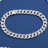 STARYEE 18k au750 solid white gold hip hop culture jewelry cuban link chain iced out moissanite bracelet women men party - Creative Dreamscape