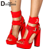 DORATASIA Big Size 34-43 Luxury Brand Lady High Heels Gladiator Sandals Platform Colorful Summer Sandals Women Party Shoes Woman - Creative Dreamscape