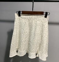 Toppies Women Dots Mini Skirt Green White Saia High Waistline Faldas sexy Skirts 2020 Summer - Creative Dreamscape