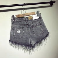 female fashion casual summer cool women denim Shorts high waists fur-lined leg-openings Plus size sexy short Jeans - Creative Dreamscape