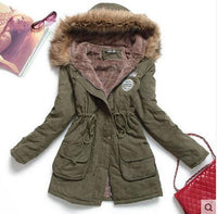 new winter women jacket medium-long thicken plus size 4XL outwear hooded wadded coat slim parka cotton-padded jacket overcoat - Creative Dreamscape