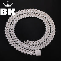 13mm 2Row Zircon Miami Cuban Link Necklace Gold Silver Plated Luxury Copper Micro Paved CZ Cuban Chain 16/18/20/22/24inch - Creative Dreamscape
