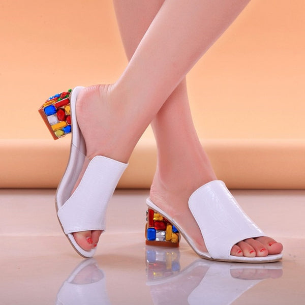 Crystal Rhinestone Sandals - Creative Dreamscape