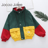 Jocoo Jolee Color Block Long Sleeve Corduroy Women Jacket Patchwork Drawstring Hit Color Autumn Jacket Plus Size Women Coat - Creative Dreamscape