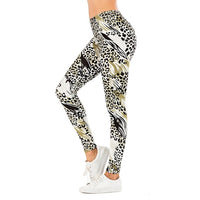 Brand Sexy Women Legging leaf Printing Fitness leggins Fashion Slim legins High Waist Leggings Woman Pants - Creative Dreamscape