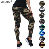 VISNXGI New Fashion 2020 Camouflage Printing Elasticity Leggings Camouflage Fitness Pant Legins Casual Milk Legging For Women - Creative Dreamscape