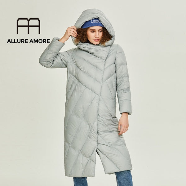 Allure Amore Women Winter Jacket Windproof Coat With Stand-Up Collar and Hood Women Parka Made Of Biopuh Will Protect From Cold - Creative Dreamscape