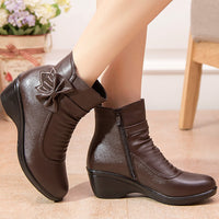 Butterfly-knot Ankle Boots - Creative Dreamscape