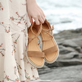 Women Faux Suede Sandals Fashion Summer Shoes Woman Flat Sandals Rope Lace Up Gladiator Sandals Non-slip Beach Chaussures Femme - Creative Dreamscape