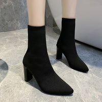 Simple Fashion Stretched Sock Boots - Creative Dreamscape
