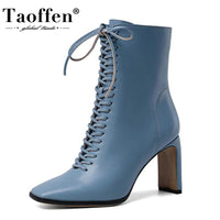 Women Ankle Boots Fashion Cross Strap High Heels - Creative Dreamscape