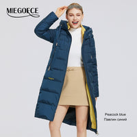 MIEGOFCE 2020 New Winter Womens Jacket Long Warm Down Jacket Stand-up Collar With a Hood Cold Warm Down Coat Windproof Parkas - Creative Dreamscape