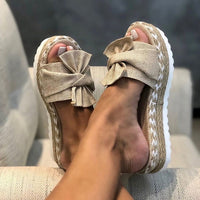 Platform Wedges Slippers Women Sandals - Creative Dreamscape