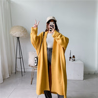 LANMREM 2020 New autumn Fashion Women Clothes Scarf Collar Lantern Sleeves Pocket Loose Knits Cardigan WJ82604 - Creative Dreamscape