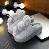 Women's Slippers Shoes Home Winter Ladies Casual Autumn Cute Casual Fur Plush Rabbit Female Slipper Comfort Woman Indoor Soft - Creative Dreamscape