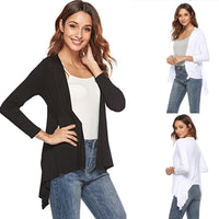 2020 Women Cardigan Jacket Autumn Open Front Solid Irregular Hem Cardigan Casual Fahion Long Sleeve Cardigan Top Plus Size - Creative Dreamscape