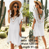 Women Beach Dress Cover-ups Swimsuit Cover Up Robe Swimming Beachwear 2020 Long Swim Cape for Woman Crochet Summer Tunic Dresses - Creative Dreamscape