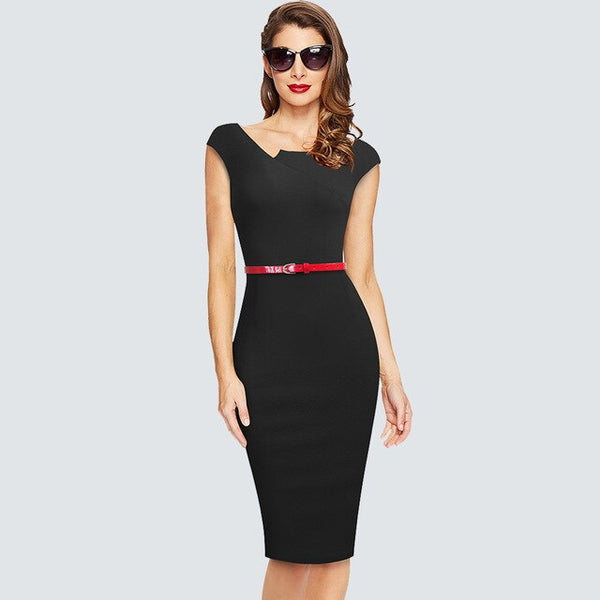 Brief Elegant Wear to work Elegant Pencil Dress Fashion Slim Charming Office Lady Dress HB589 - Creative Dreamscape