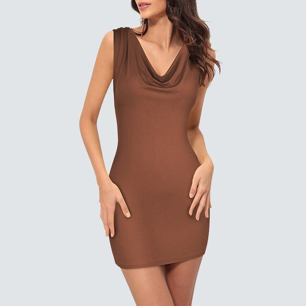 Sexy Bandage Mini V Neck Party Dress Women Summer Casual Sleeveless Club Wear Dress H283 - Creative Dreamscape