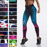 Women Leggings Slim High Waist Elasticity Leggings Fitness Printing leggins Breathable Woman Pants Leggings Push Up Strength - Creative Dreamscape