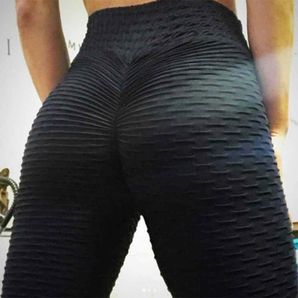 JGS1996 Yoga Pants Fitness Sports Leggings Jacquard Sports Leggings Female Running Trousers High Waist Yoga Tight Sports Pants - Creative Dreamscape