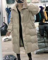 Ailegogo 2020 Winter Jacket Stand Collar Women Thick Warm 90% White Duck Down Parkas Strretwear Female Blue Snow Coat Outwear - Creative Dreamscape