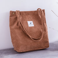 Women's Corduroy Shoulder Bag - Creative Dreamscape