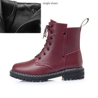 Women's Winter shoe Boots 2020 New Genuine Leather Ladies Short Boots Wool Warm Non-slip Student Women's Ankle Boots - Creative Dreamscape