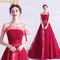 Red Prom Dresses 2020 Strapless Sexy dinner party annual meeting Evening Dresses Long Abendkleider Abito da sera Jurken Robes - Creative Dreamscape