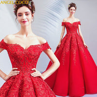 Luxury Red Evening Dress Formal Dresses Sweetheart Sequin Beaded Prom Dresses 2020 Party Dress Abendkleider Gala Gowns Sukienki - Creative Dreamscape