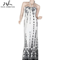 Nice-forever Summer Women Bohemian Beach Printed Dresses Casual Maxi Long Dress - Creative Dreamscape