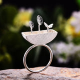 Sterling Silver Handmade Little Garden Rings - Creative Dreamscape