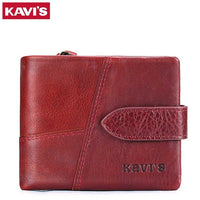 KAVIS Luxury brand Genuine Leather Women Wallet Female Lady Small Walet Portomonee For Girls Mini Pocket Perse Holder Coin Purse - Creative Dreamscape