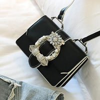Fashion Designer Famous Bags For Women Designer Diamond Lock Bags Quality PU Leather Women Handbags Elegant Lady Shoulder bags - Creative Dreamscape