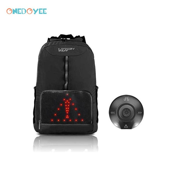 Onedoyee Safety Riding Backpack Waterproof Outdoor Smart LED Turn Signal Lights Unisex Leisure Sports Bag Cycling Backpack 15L - Creative Dreamscape