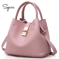 SGARR black red women bags bucket bag crossbody single shoulder female handbag designers luxury messenger bag women mother bags - Creative Dreamscape