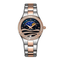 Reef Tiger/RT Fashion Causal Watches Stainless Steel Blue Wrist Watches Women Moon Phase Watch RGA1524 - Creative Dreamscape