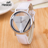Hesiod New Design Fashion Ladies Watches Elegant Hollow Triangle Watch Fashion Women Thin Leather Strap Quartz Watch - Creative Dreamscape