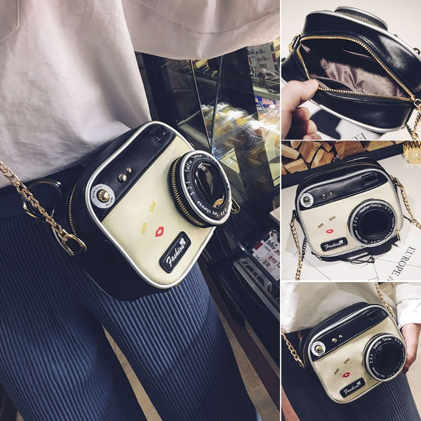 Newest Women Fashion Camera Shape Small Lady Girls Shoulder Bag Crossbody Handbag Messenger Purse High Quality - Creative Dreamscape