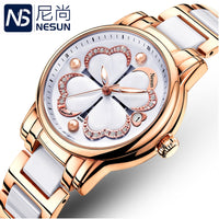Switzerland Nesun Women's Watches Luxury Brand Quartz Watch Women Pearl Relogio Feminino Clock Diamond Wristwatches N9069-3 - Creative Dreamscape