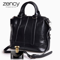 Zency New Fashion 100% Genuine Leather Elegant Women Handbags High Quality Lady Messenger Crossbody Bag Luxury Female Tote Purse - Creative Dreamscape